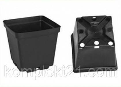 Горшки пластиковые квадратные для рассады 11*11*12  см (1 л), тех.тара