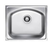 Кухонна мийка врізна з нержавіючої сталі Platinum 4842 Декор 0.8