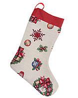 Сапожок новогодний гобеленовый,  25х37 см, Эксклюзивные подарки, Новогодний текстиль, фото 1