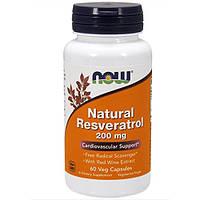 Ресвератрол / NOW - Natural Resveratrol 200mg (60 caps)