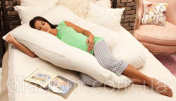 Подушка для беременных Maxi Exclusive, Лежа на боку