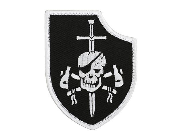 Нашивка haftowana DEVGRU Silver Team Gen1 - Black [Minotaurtac] (для страйкбола)