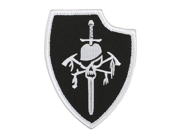 Нашивка haftowana DEVGRU Silver Team Gen2 - Black [Minotaurtac] (для страйкбола)