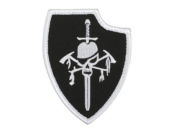 Нашивка haftowana DEVGRU Silver Team Gen2 - Black [Minotaurtac] (для страйкбола), фото 2