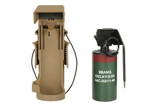 Ładownica szybkiego dostępu z atrapą granatu MK13 - Coyote Brown [TMC] (для страйкбола), фото 3