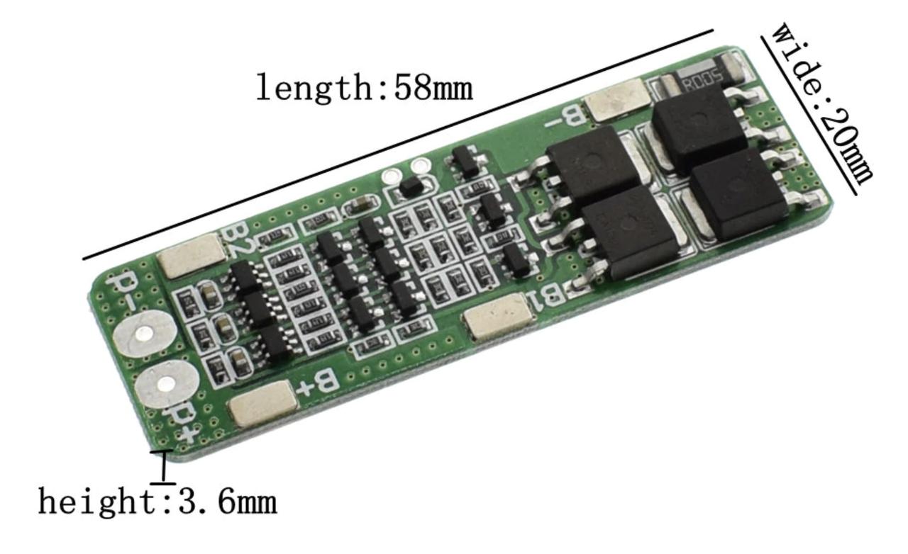 Модуль защиты Li-Ion 18650 3S 20A. 12.6 В