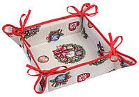 Хлебница новогодняя гобеленовая,  25х25 см, Эксклюзивные подарки, Новогодний текстиль, фото 1