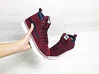 Подростковые зимние кроссовки Vans 6743 красные, фото 1