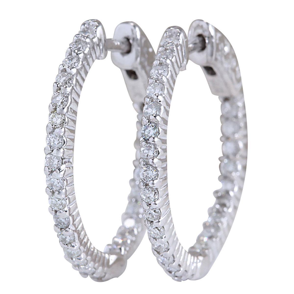 Золоті сережки кільця з діамантами 1.26 карата .Проба 14К Сертифікат.