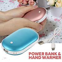 Портативное зарядное с подогревом рук Power bank heater 5200 mAh, фото 1