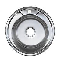 Врезная кухонная мойка из нержавеющей стали Platinum 490 Сатин 0.6