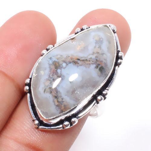 Солнечный кварц кольцо с натуральным кварцем в серебре 18 размер Индия