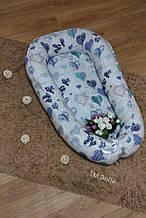 Подушка для годування Дитяче гніздечко-позіционер Сердечка