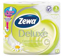 Туалетний папір Zewa тришаровий 4 рулони 150 відривів