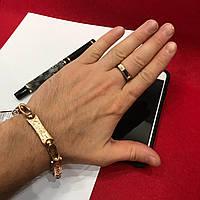 Серебряный браслет 925 пробы  с позолотой 585 пробы .Cartier 46  грамм