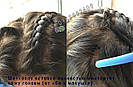 Натуральный длинный чёрный парик на сетке. + шелковая вставка, фото 6