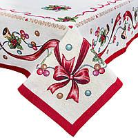 Скатерть новогодняя гобеленовая, 137х180см, Эксклюзивные подарки, Новогодний текстиль, фото 1