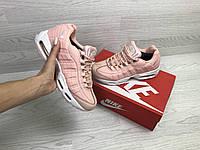 Зимние подростковые Кроссовки Nike 6735 розовые, фото 1