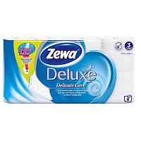 Туалетная бумага 8 рулонов ZEVA 3-слойная/150 отрывов/21м целлюлоза