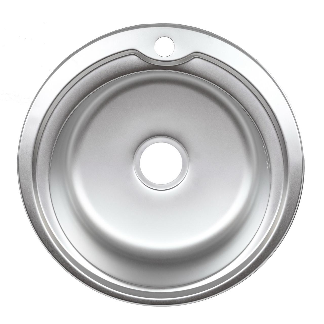 Врезная кухонная мойка из нержавеющей стали Platinum 510 Декор 0.8