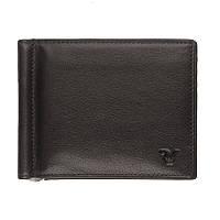 Портмоне мужское с зажимом для денег и наружным карманом для мелочи, из натуральной кожи, Roncato Basic, фото 1