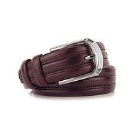 Ремень классический кожаный мужской под брюки Bond