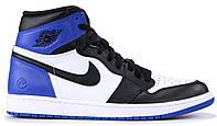 Мужские кроссовки Nike Air Jordan 1 Retro High Black/Blue/White (найк аир джордан 1 ретро, черные/синие/белые)