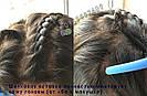 Длинный чёрный парик без чёлки, из натуральных волос с имитацией кожи головы, фото 6