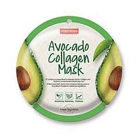Успокаивающая коллагеновая маска Purederm Circle Mask c авокадо