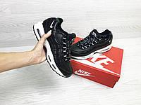 Зимние подростковые Кроссовки Nike 6737 черные с белым, фото 1