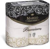 Туалетная бумага Марго Рremium 3-слойная 4 рулона целлюлоза