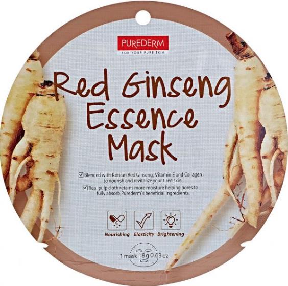 Восстанавливающая маска  Purederm Circle Mask c экстрактом красного женьшеня