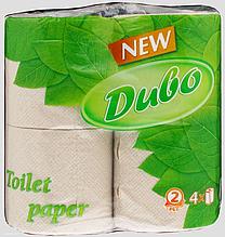 Туалетний папір макулатурка-ДЫВО 2-шарова 4рулона/150 відривів сіра