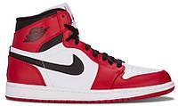 Мужские кроссовки Nike Air Jordan 1 Retro Chicago Red Black (найк аир джордан 1 ретро, красные/черные)