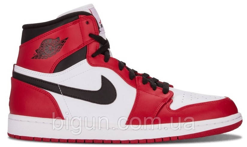 810dba41 Мужские кроссовки Nike Air Jordan 1 Retro Chicago Red Black (найк аир  джордан 1 ретро