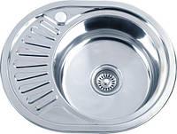 Врезная кухонная мойка из нержавеющей стали Platinum 5745 Полировка 0.8