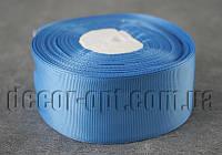Репсова стрічка синя 4 см 25 ярд арт.36