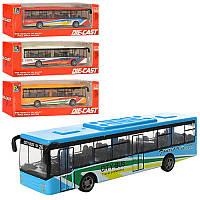 Автобус игрушка 1210-1D17, металл, инер-й
