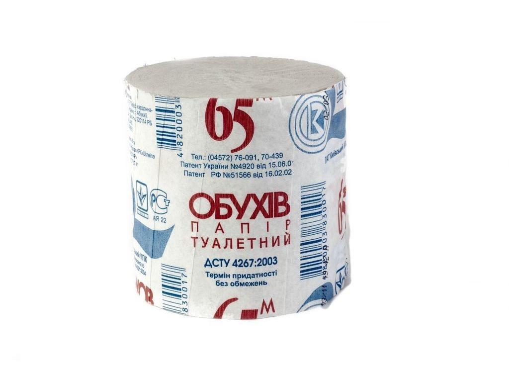 Туалетная бумага серая Обухов 65 м, 48 шт