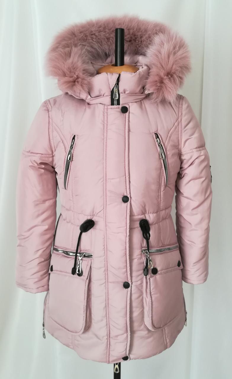 f9365c0fca7c Зимние куртки для девочки интернет магазин 32-40 пудра - Детская и  подростковая одежда Uventum