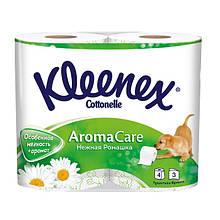 Туалетний папір Kleenex 3-шарова 4 рулону преміум натуральна целюлоза біла Угорщина