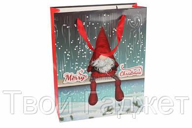 """ОПТ/Розница Новогодний подарочный пакет """"Merry Christmas"""" (Цена за 4 вида,12 шт)"""