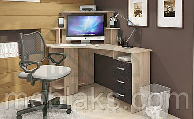 """Офисный стол для компьютера (угловой)  """"СКУ-5"""" с надстройкой"""