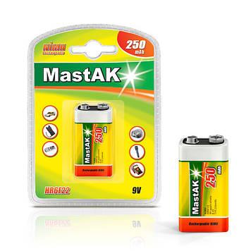 """Аккумулятор MastAK """"Крона"""" 9v ( 8,4v 250mAh )"""