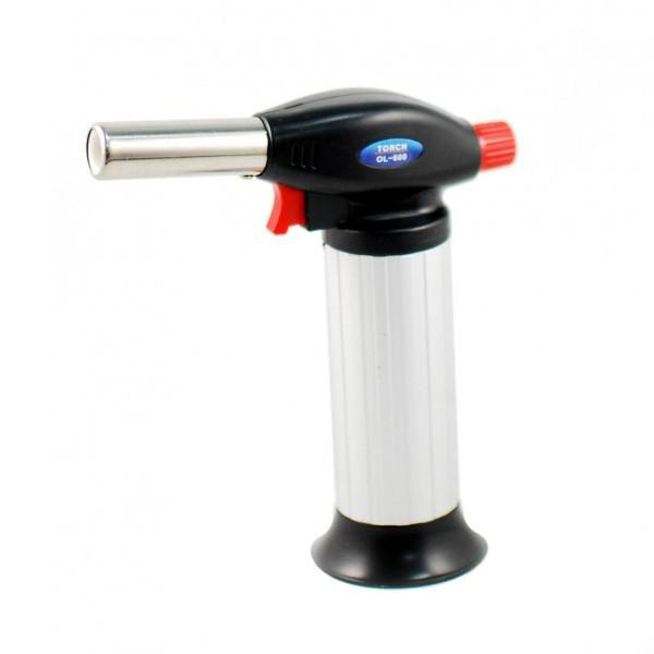 Ручная газовая горелка с пьезоподжигом, пьезо горелка, Turbo Torch OL-600, туристическая