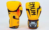 Перчатки боксерские PU на липучке VENUM (р-р 6-14oz) BP-5