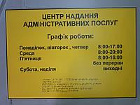 Тактильные вывески со шрифтом Брайля размер 600х400мм, фото 1