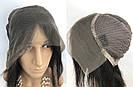 ПАРИК НА СЕТКЕ — Натуральный чёрный. Имитация роста волос., фото 6