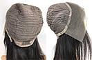 ПАРИК НА СЕТКЕ — Натуральный чёрный. Имитация роста волос., фото 7