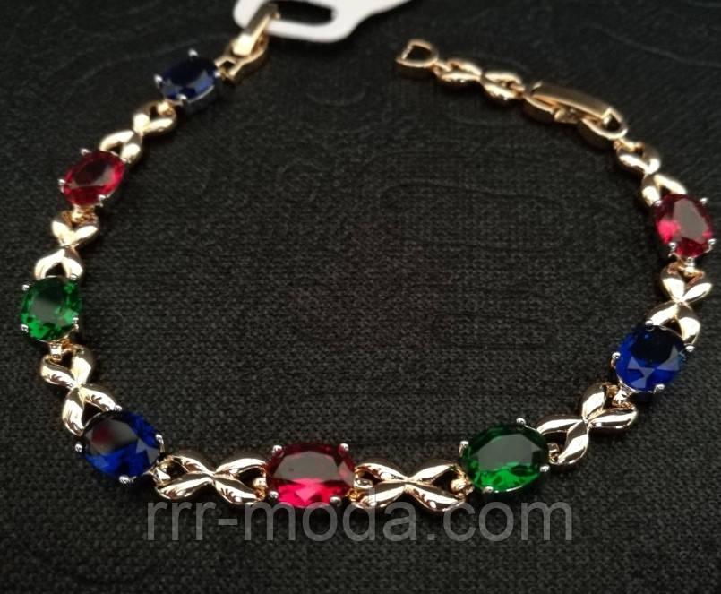 Браслеты с нежными цветными кристаллами. Брендовые браслеты фирмы Xuping. 15